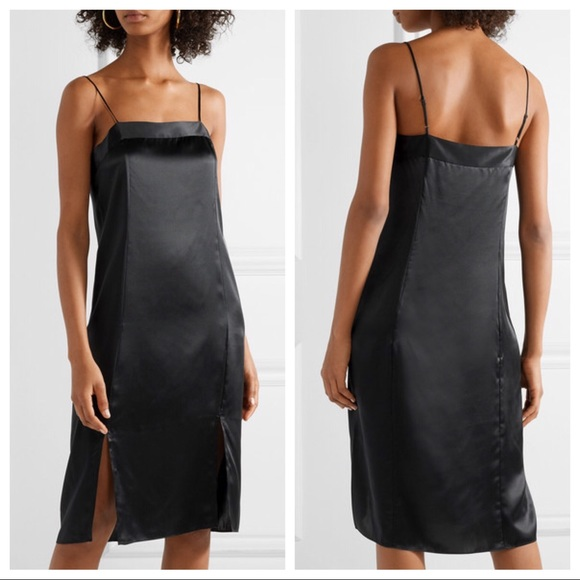 b2c3a27cd4d03 Equipment Dresses | Black Kelby Slip Silk Dress | Poshmark